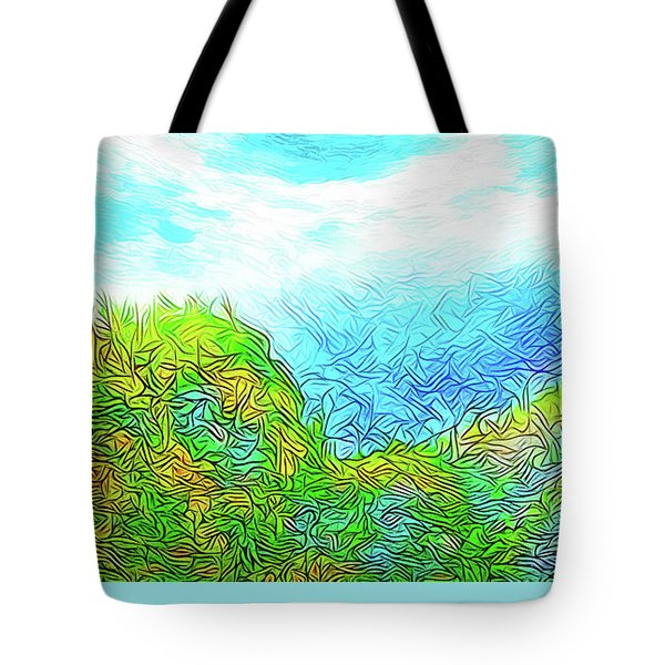 Blue Green Mountain Vista - Colorado Front Range View Tote Bag by Joel Bruce Wallach