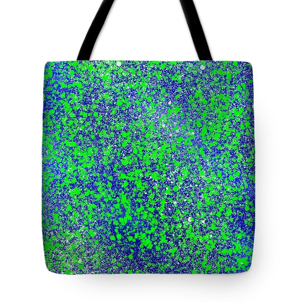 Blue Green Splatter Tote Bag