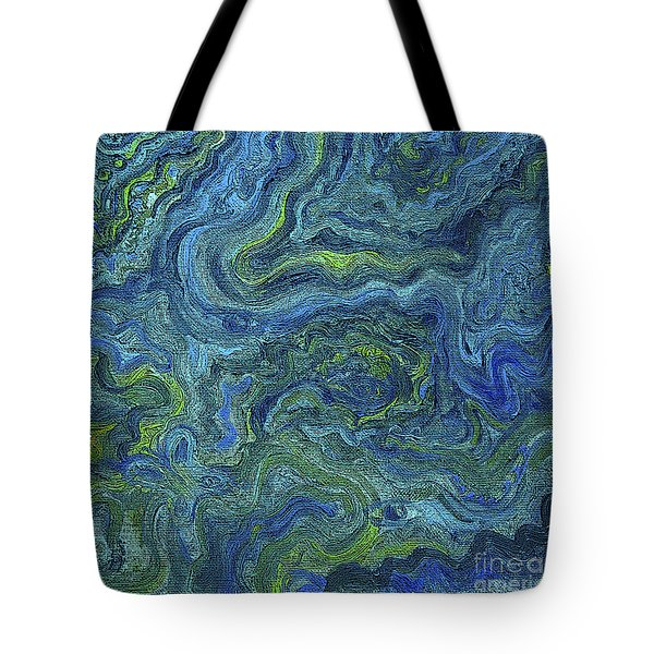 Blue Green Texture Tote Bag