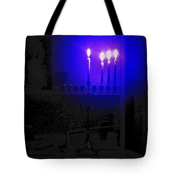 Blue Hanukkah On The Third Day Tote Bag