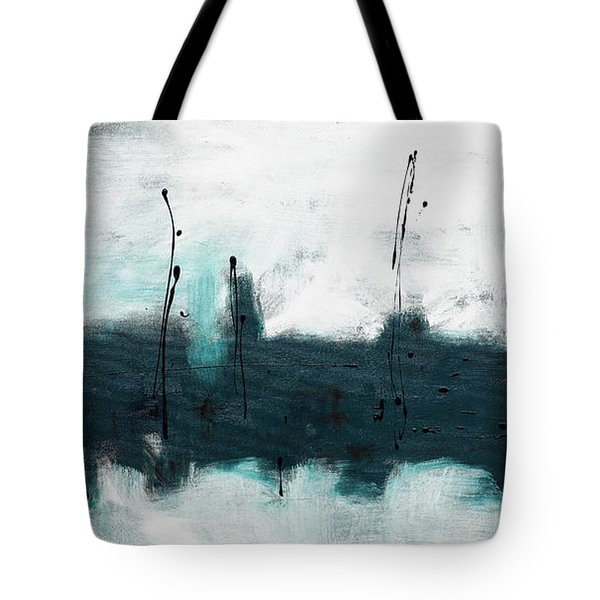 Tote Bag featuring the painting Blue Harbour by Carmen Guedez