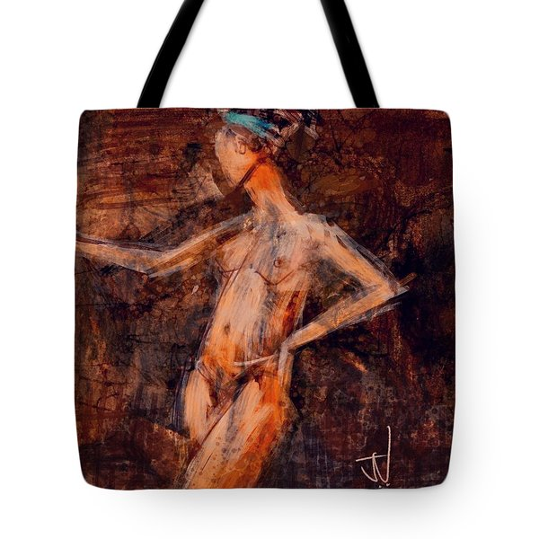 Tote Bag featuring the digital art Blue Head Band by Jim Vance