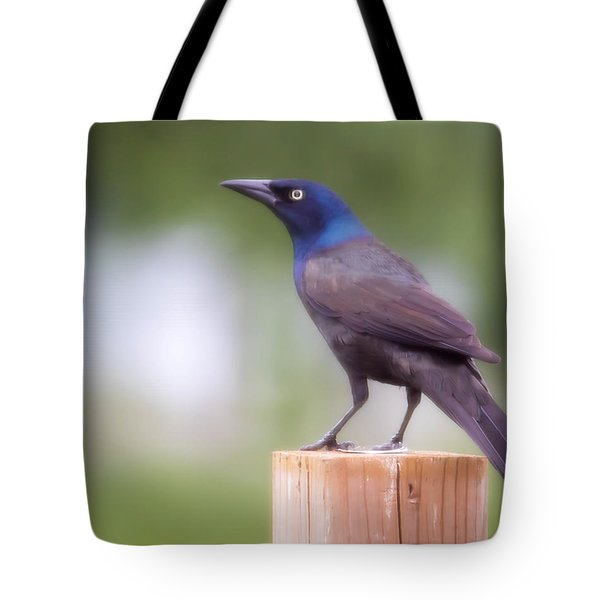 Blue Head Tote Bag