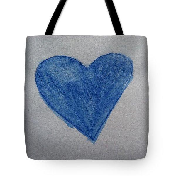 Blue Heart Tote Bag by Alohi Fujimoto