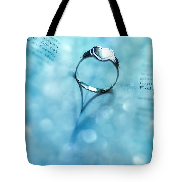 Blue Heart Tote Bag by Martina Fagan