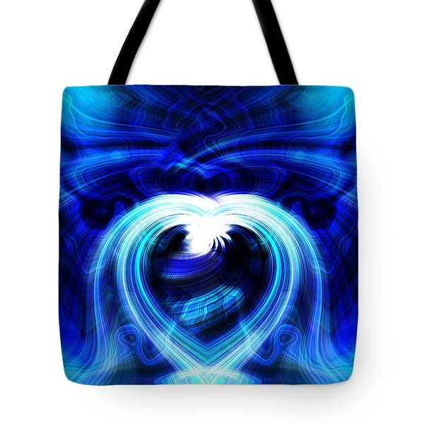 Blue Heart On Stage Tote Bag