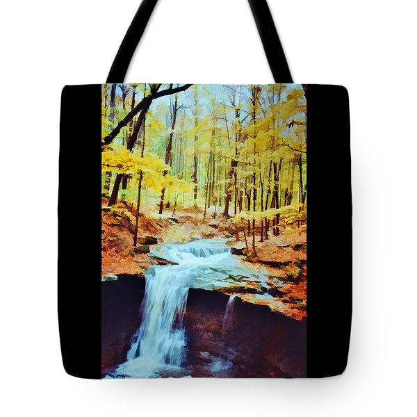 Tote Bag featuring the photograph Blue Hen Falls by Diane Alexander