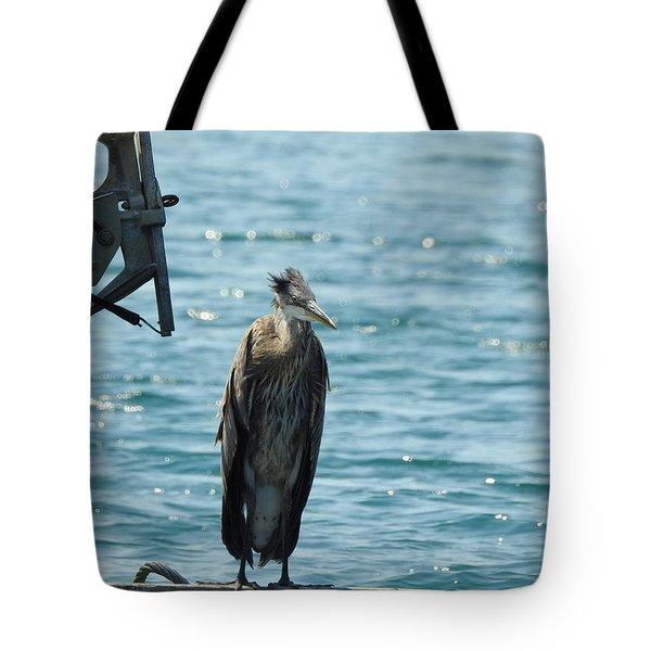Blue Heron #1 Tote Bag