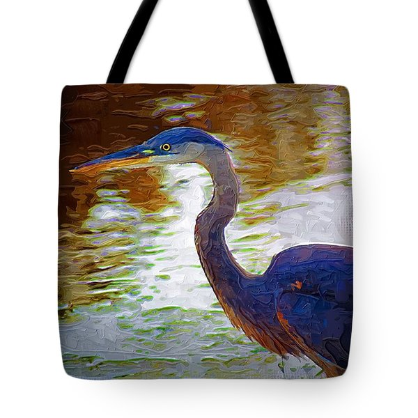 Tote Bag featuring the photograph Blue Heron 2 by Donna Bentley