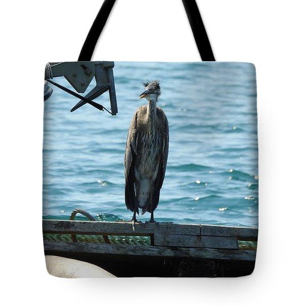 Blue Heron #2 Tote Bag