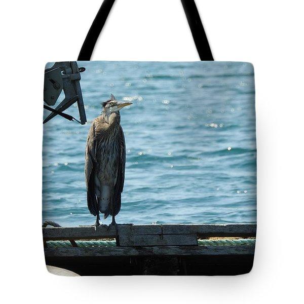 Blue Heron #3 Tote Bag