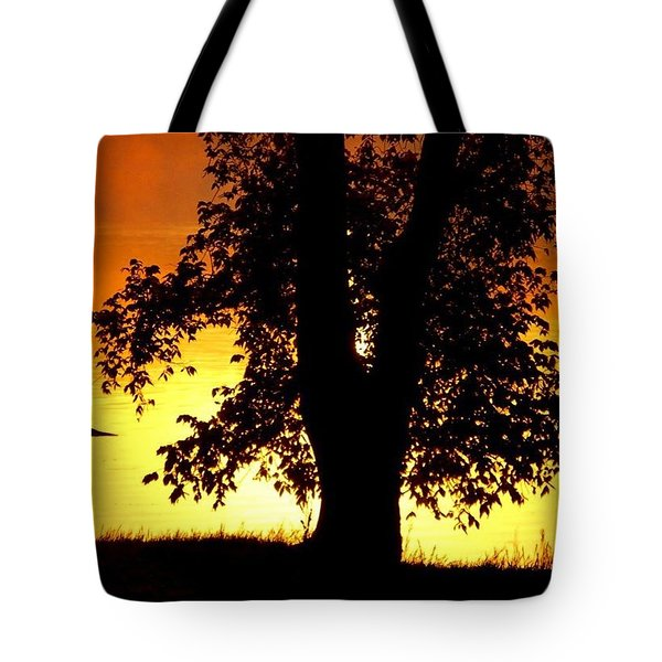Blue Heron At Sunrise Tote Bag
