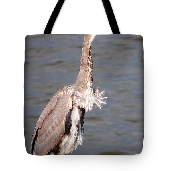 Blue Heron Calling Tote Bag