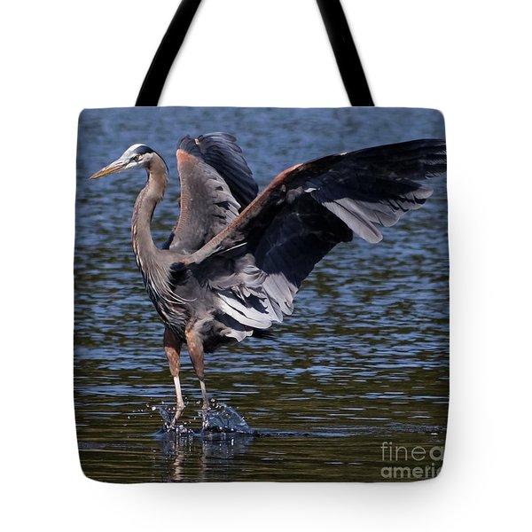 Blue Heron Dance Tote Bag