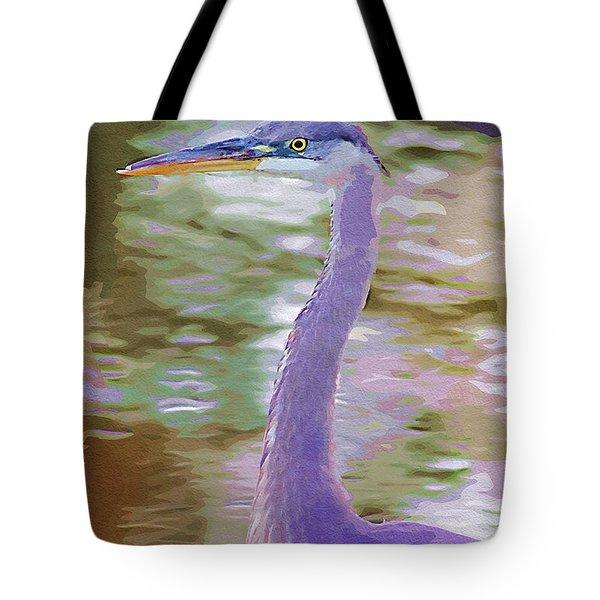 Blue Heron Tote Bag by Donna Bentley