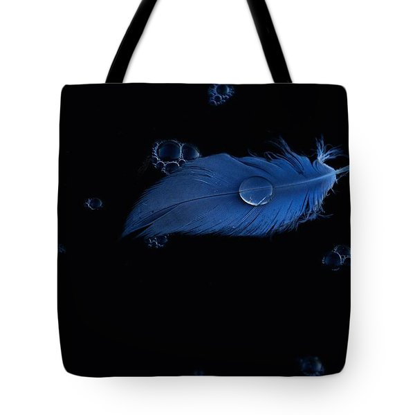 Blue Heron Feather Tote Bag