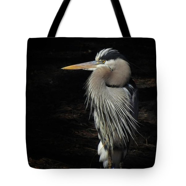 Blue Heron Gaze Tote Bag by Deborah Smith