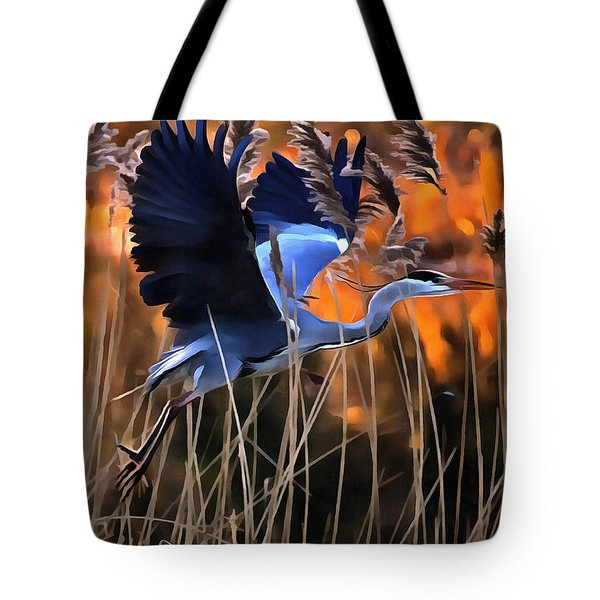 Blue Heron Tote Bag by Jack Torcello