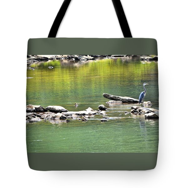 Blue Heron On The Chattahoochie Tote Bag