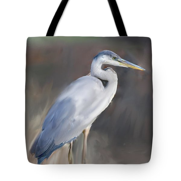 Blue Heron Painting  Tote Bag