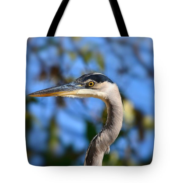 Blue Heron Profile Tote Bag