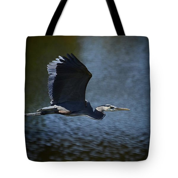 Blue Heron Skies  Tote Bag by Saija  Lehtonen