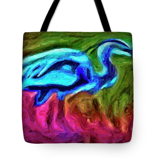 Tote Bag featuring the photograph Blue Heron by Walt Foegelle