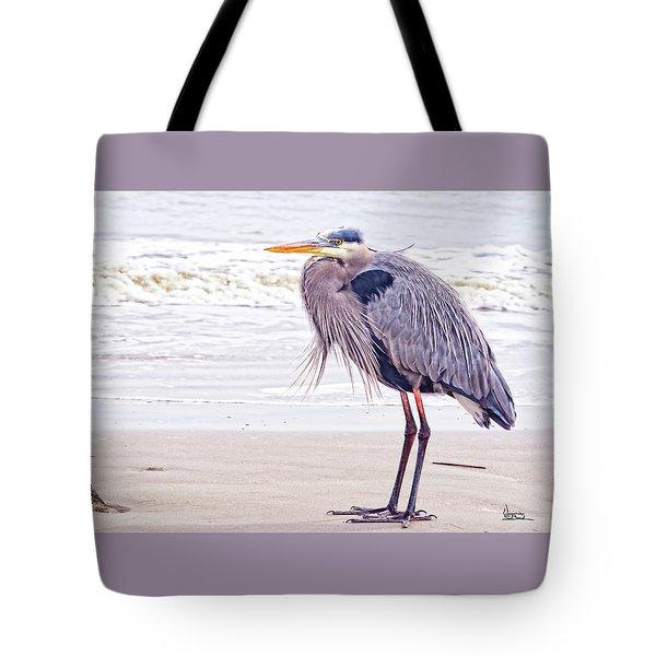 Blue Heron Watching Tote Bag