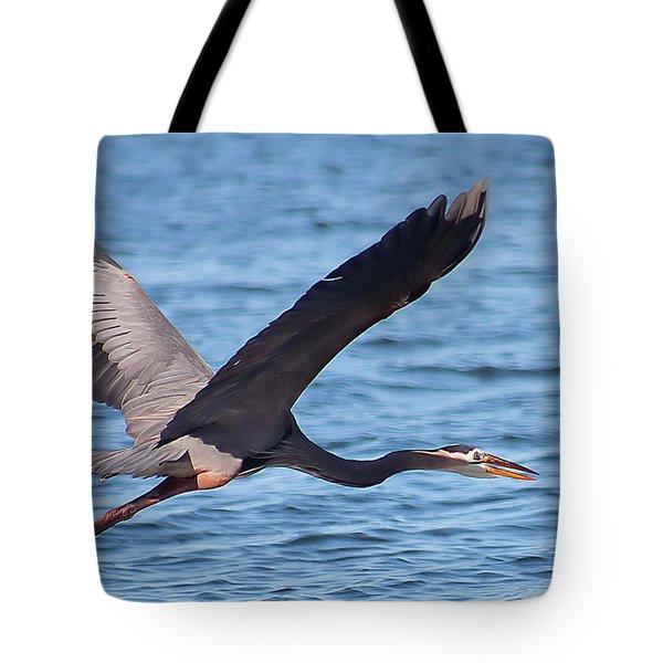 Blue Heron Wingspan Tote Bag