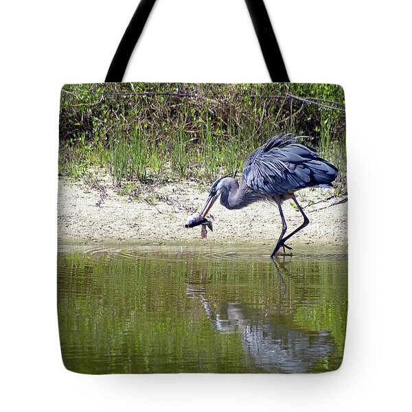 Blue Heron's Lucky Day Tote Bag