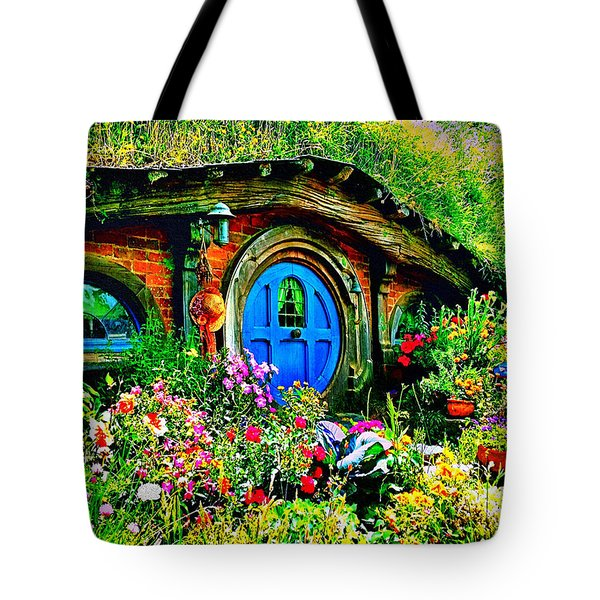 Blue Hobbit Door Tote Bag