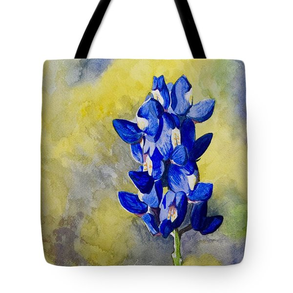 Blue Tote Bag by Holly York