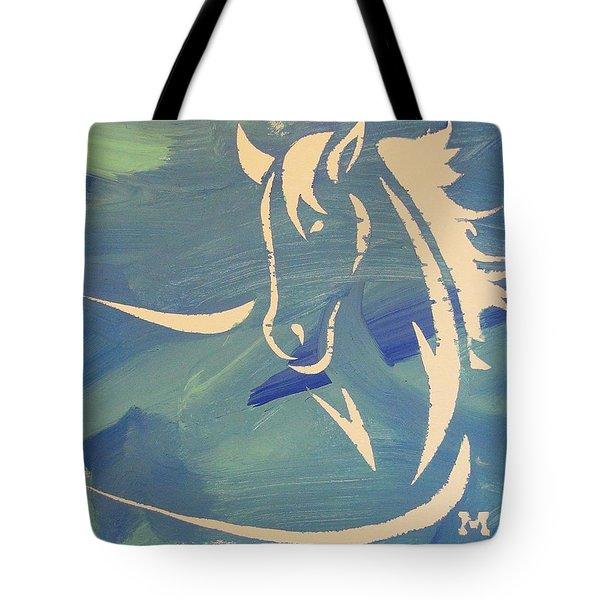 Blue Horse Sky Tote Bag
