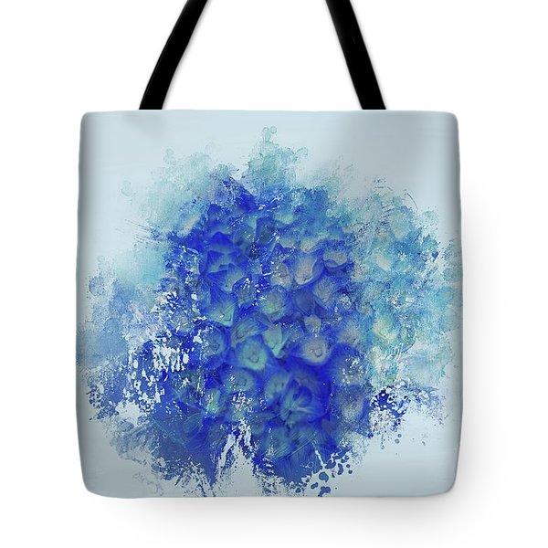 Blue Hortensia Tote Bag by Eva Lechner