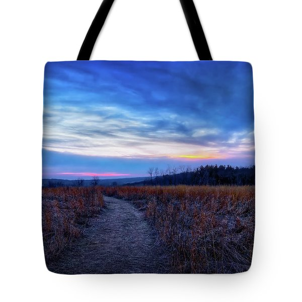 Tote Bag featuring the photograph Blue Hour After Sunset At Retzer Nature Center by Jennifer Rondinelli Reilly - Fine Art Photography