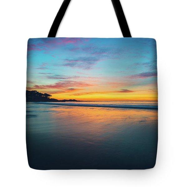 Blue Hour At Carmel, Ca Beach Tote Bag