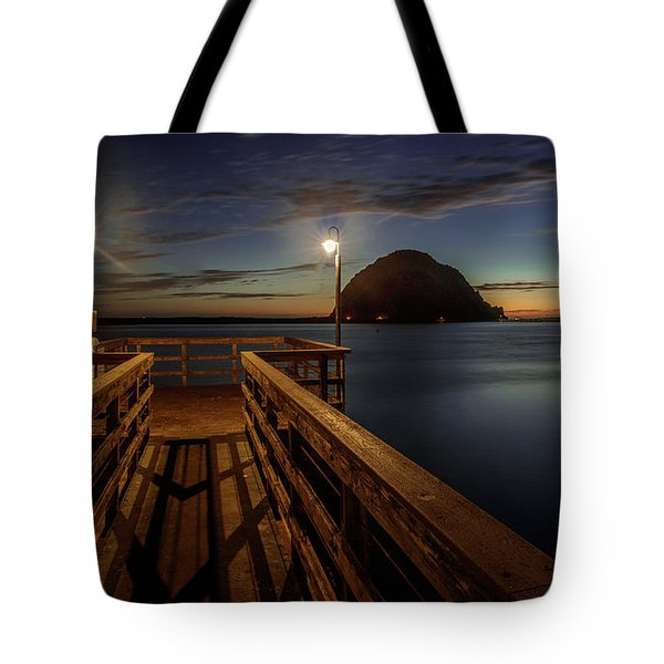 Blue Hour At Morro Bay Tote Bag
