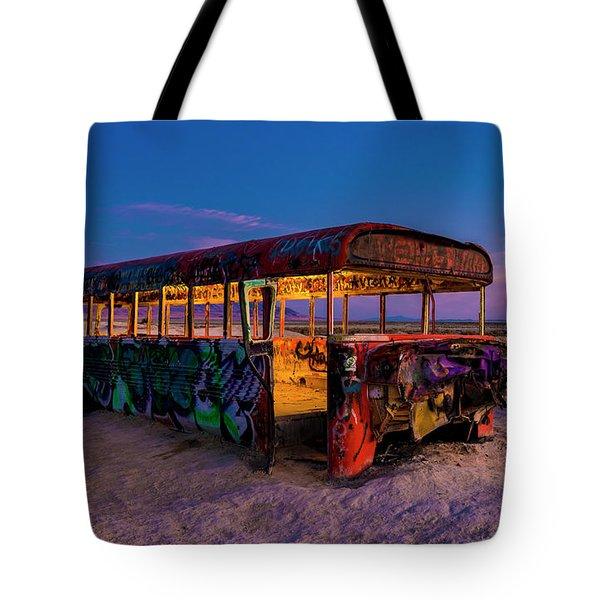 Blue Hour Bus Tote Bag