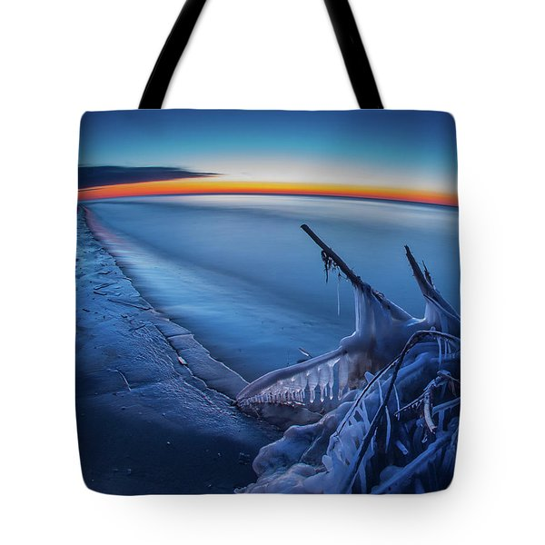 Blue Hour Fisheye Tote Bag