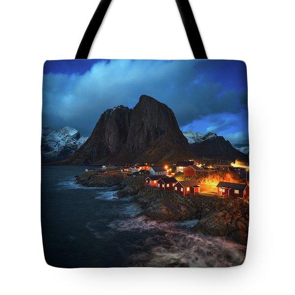 Blue Hour In Lofoten Tote Bag