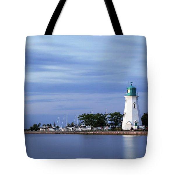 Blue Hour Lighthouse Tote Bag