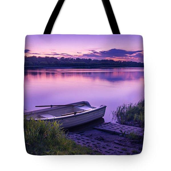 Blue Hour On The Vistula River Tote Bag