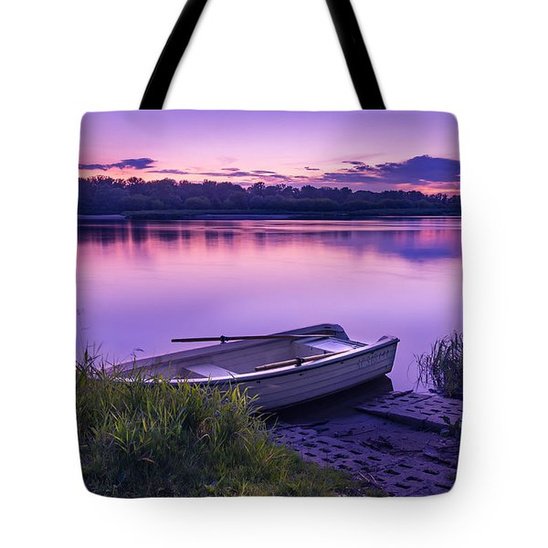 Tote Bag featuring the photograph Blue Hour On The Vistula River by Dmytro Korol