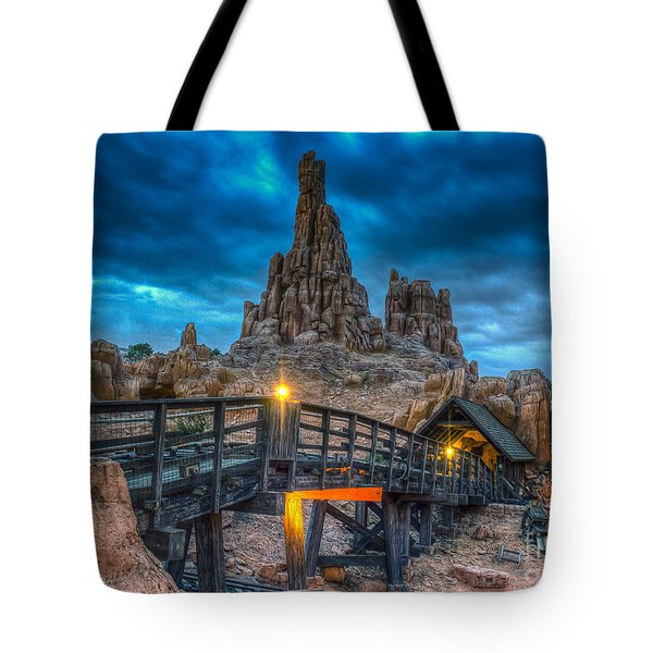 Blue Hour Over Big Thunder Mountain Tote Bag