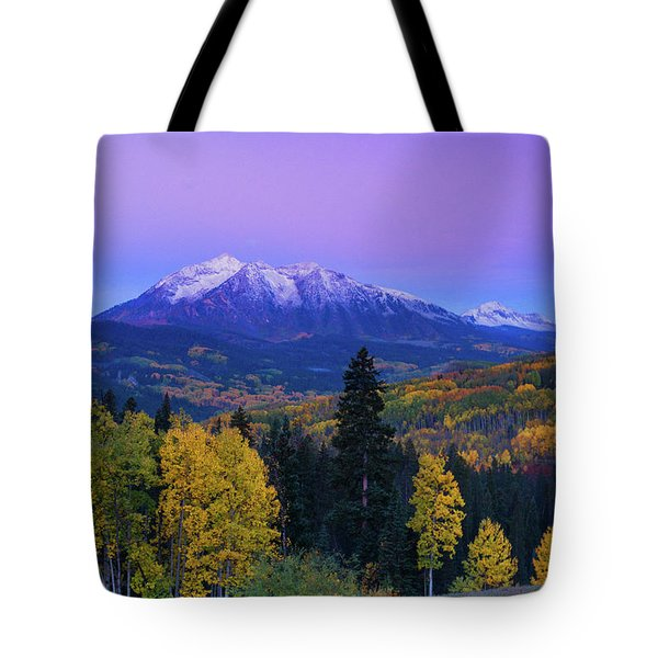 Blue Hour Over East Beckwith Tote Bag