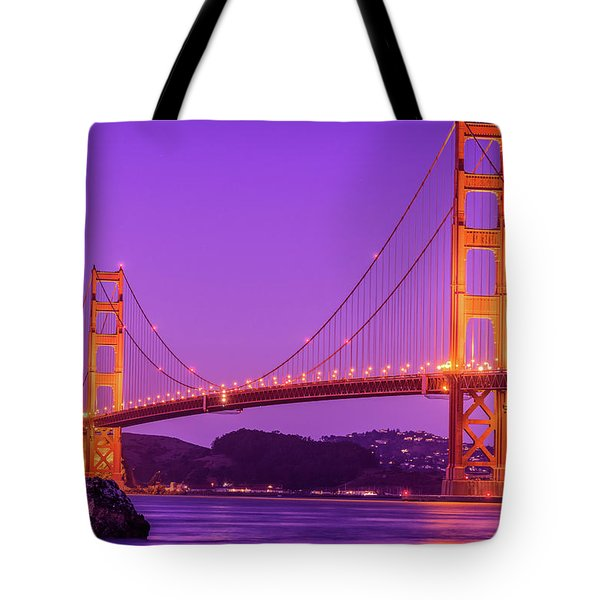 Golden Gate Bridge In The Blue Hour Tote Bag