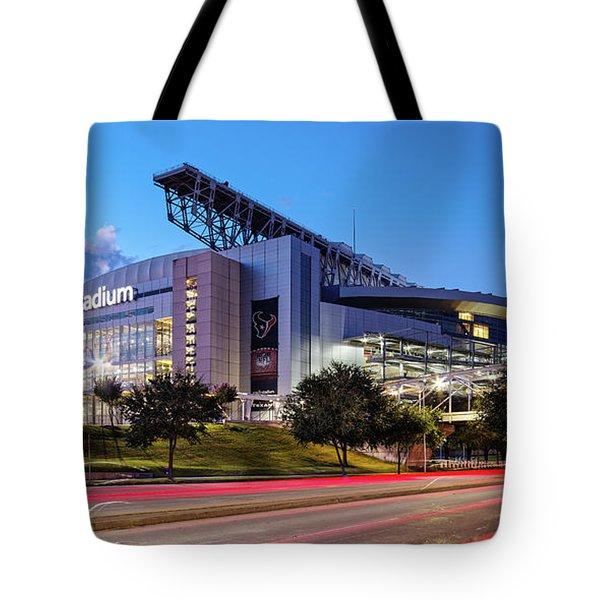 Blue Hour Photograph Of Nrg Stadium - Home Of The Houston Texans - Houston Texas Tote Bag