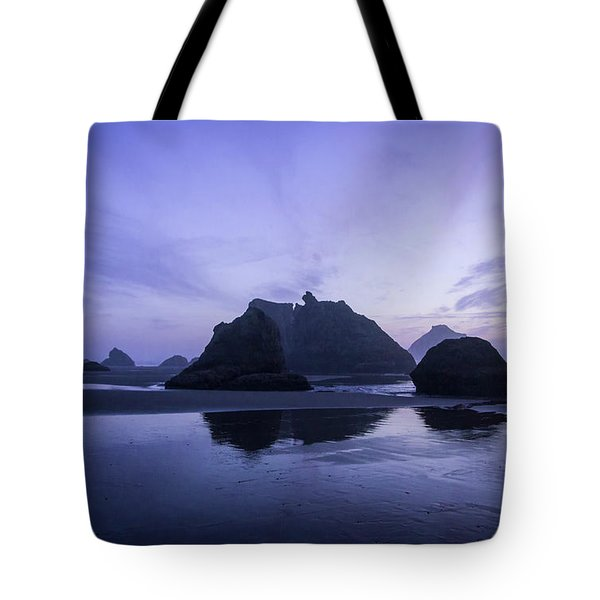 Blue Hour Reflections Tote Bag