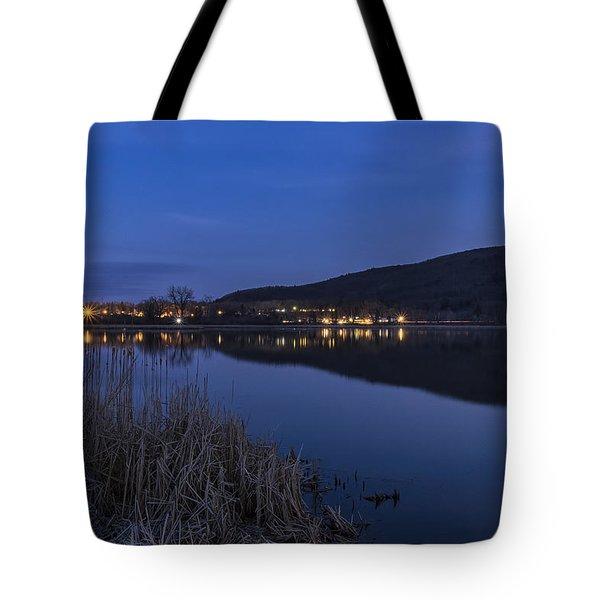 Blue Hour Retreat Meadows Tote Bag