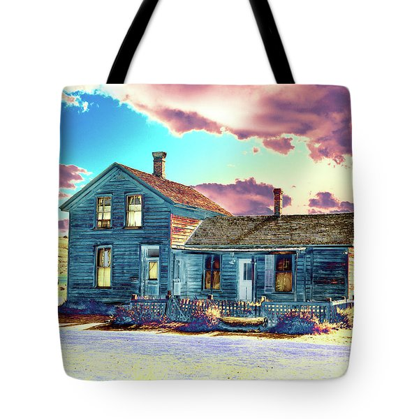 Tote Bag featuring the photograph Blue House by Jim and Emily Bush